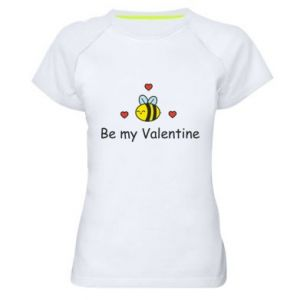 Koszulka sportowa damska Pszczoła i serce