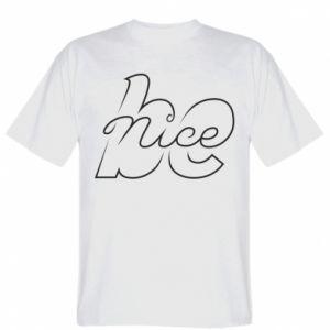 Koszulka męska Be nice contour