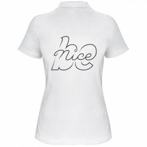 Koszulka polo damska Be nice contour
