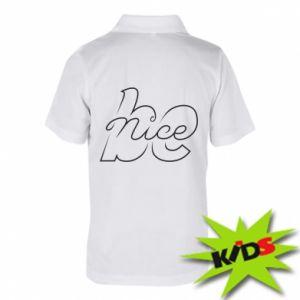 Koszulka polo dziecięca Be nice contour