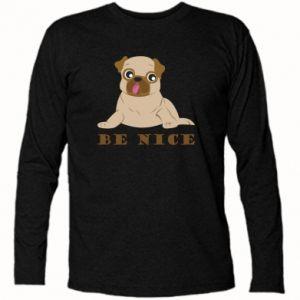 Koszulka z długim rękawem Be nice - PrintSalon
