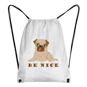 Plecak-worek Be nice - PrintSalon