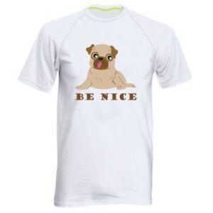 Męska koszulka sportowa Be nice - PrintSalon