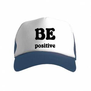 Czapka trucker dziecięca BE positive
