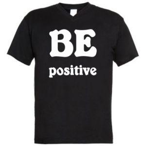 Męska koszulka V-neck BE positive