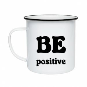 Enameled mug BE positive