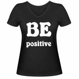 Damska koszulka V-neck BE positive