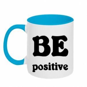 Kubek dwukolorowy BE positive