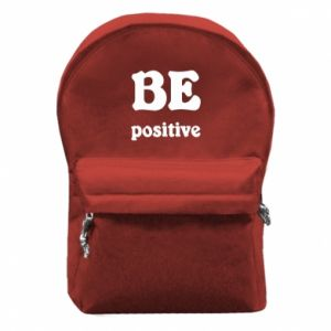 Backpack with front pocket BE positive