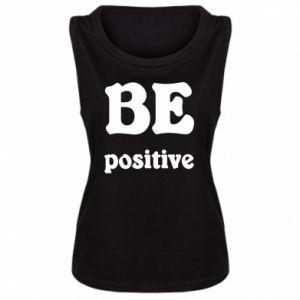 Damska koszulka bez rękawów BE positive
