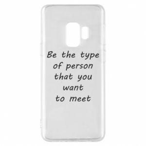 Etui na Samsung S9 Be the type