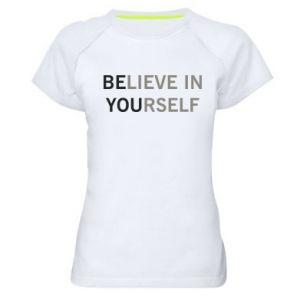 Damska koszulka sportowa BE YOU - PrintSalon