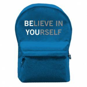 Plecak z przednią kieszenią BE YOU - PrintSalon