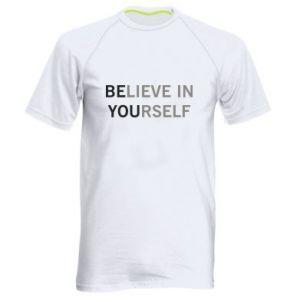 Męska koszulka sportowa BE YOU - PrintSalon