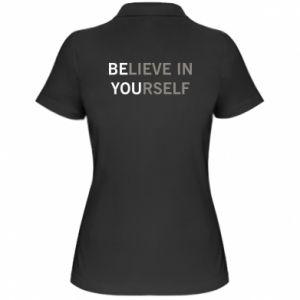 Damska koszulka polo BE YOU - PrintSalon
