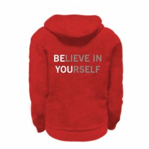Kid's zipped hoodie % print% BE YOU