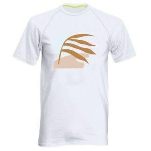 Męska koszulka sportowa Beach illustration