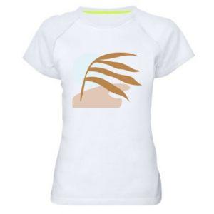 Damska koszulka sportowa Beach illustration