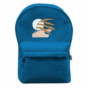 Backpack with front pocket Beach illustration