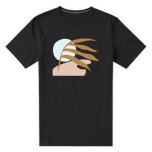 Męska premium koszulka Beach illustration