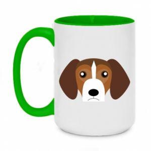 Kubek dwukolorowy 450ml Beagle breed