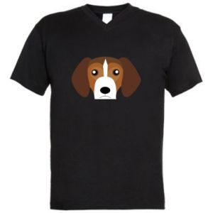 Men's V-neck t-shirt Beagle breed - PrintSalon