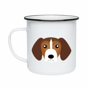 Enameled mug Beagle breed - PrintSalon