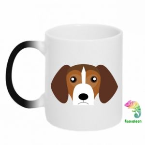 Chameleon mugs Beagle breed - PrintSalon