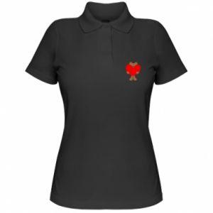 Women's Polo shirt Bear with a big heart