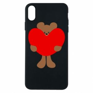 Phone case for iPhone Xs Max Bear with a big heart