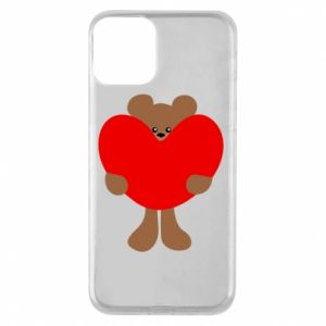 Phone case for iPhone 11 Bear with a big heart