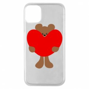 Phone case for iPhone 11 Pro Bear with a big heart