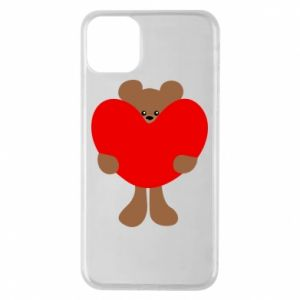 Phone case for iPhone 11 Pro Max Bear with a big heart
