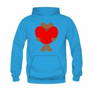 Bluza z kapturem dziecięca Bear with a big heart