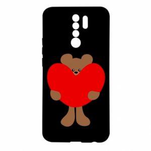 Etui na Xiaomi Redmi 9 Bear with a big heart