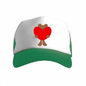 Czapka trucker dziecięca Bear with a big heart