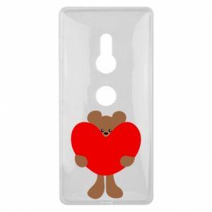 Etui na Sony Xperia XZ2 Bear with a big heart