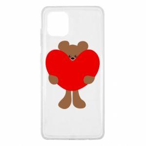 Etui na Samsung Note 10 Lite Bear with a big heart