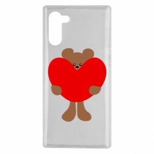 Etui na Samsung Note 10 Bear with a big heart