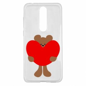 Etui na Nokia 5.1 Plus Bear with a big heart