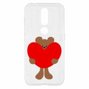 Etui na Nokia 4.2 Bear with a big heart