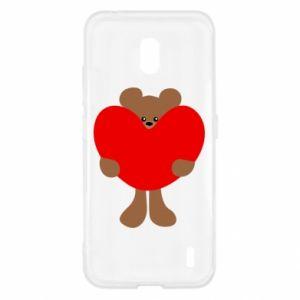 Etui na Nokia 2.2 Bear with a big heart