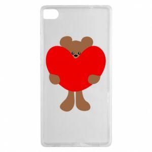 Etui na Huawei P8 Bear with a big heart