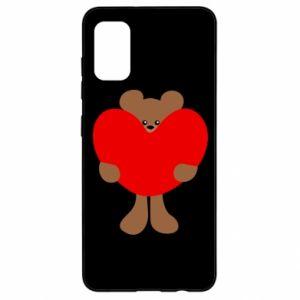 Etui na Samsung A41 Bear with a big heart