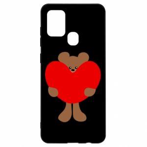 Etui na Samsung A21s Bear with a big heart