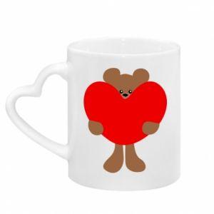Kubek z uchwytem w kształcie serca Bear with a big heart
