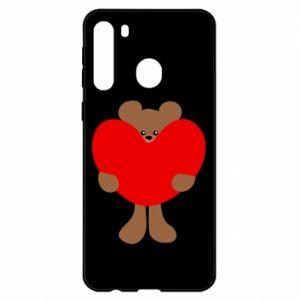 Etui na Samsung A21 Bear with a big heart