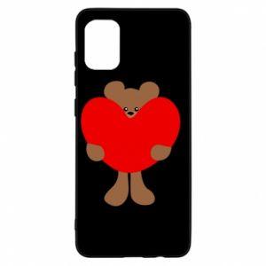Etui na Samsung A31 Bear with a big heart