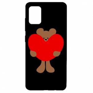 Etui na Samsung A51 Bear with a big heart
