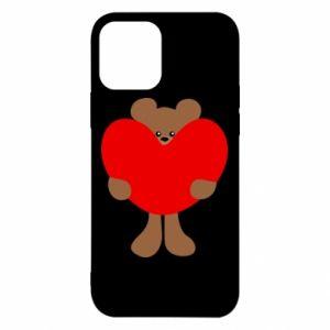 Etui na iPhone 12/12 Pro Bear with a big heart